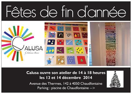 Atelier Calusa, Avenue des Thermes, 142 à 4050 Chaudfontaine.